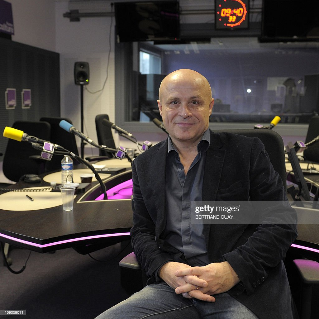 Head of French public radio station 'France Culture' Olivier Poivre d'Arvor poses on January 7, 2013 in a set of the Maison de la radio in Paris. AFP PHOTO/ BERTRAND GUAY