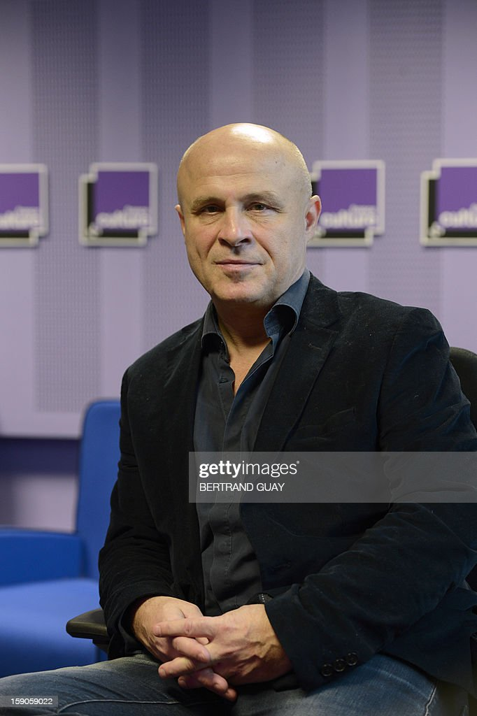 Head of French public radio station 'France Culture' Olivier Poivre d'Arvor poses on January 7, 2013 in Paris.