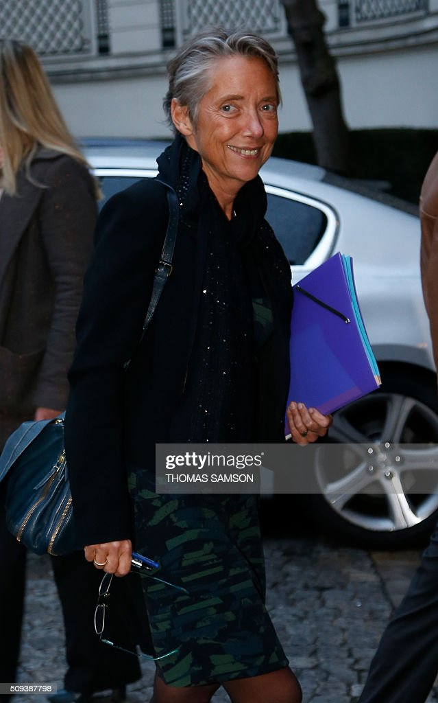 Head of French public transport group RATP, Elisabeth Borne arrives for a special meeting of the Public Transport National Security Committee on the Ile-de -France region at the Hotel Beauvau in Paris, on February 10, 2016. AFP PHOTO / THOMAS SAMSON / AFP / THOMAS SAMSON