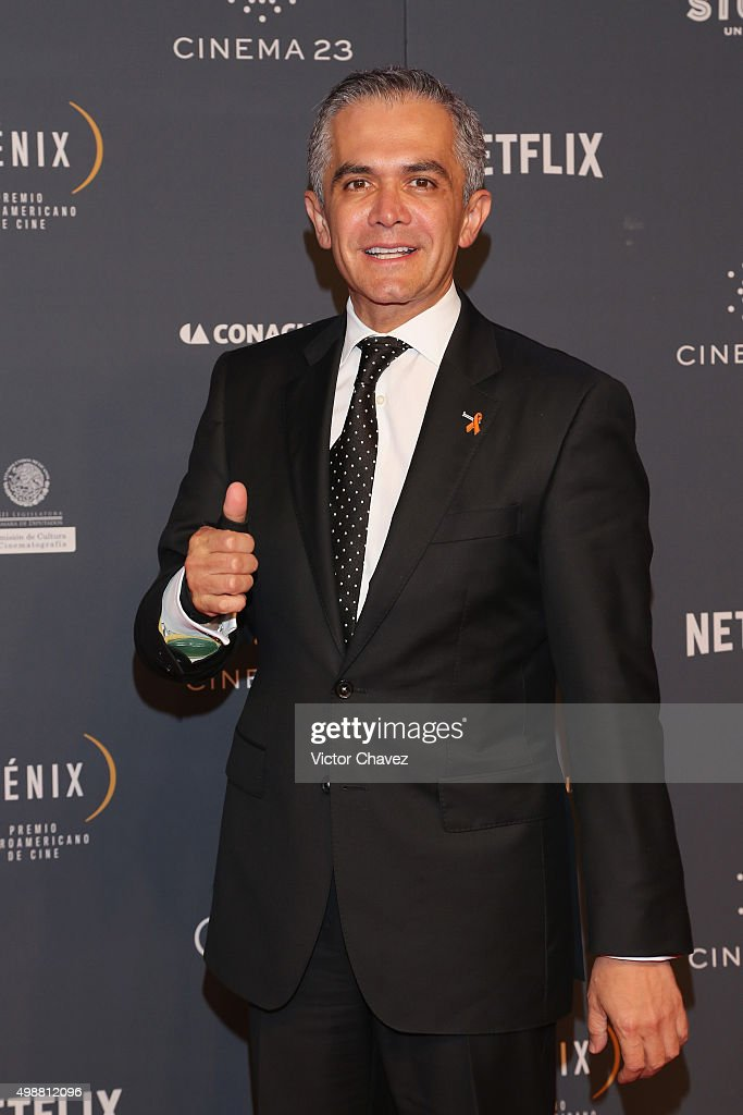 Head of Government of Mexico City, Miguel Angel Mancera attends Premio Iberoamericano de Cine Fenix 2015 at Teatro de La Ciudad on November 25, 2015 in Mexico City, Mexico.