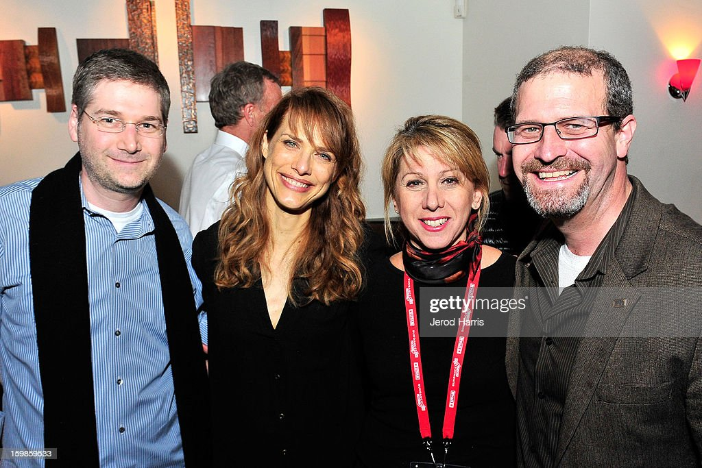 Head of IMDb Pro Jack Bernstein, director <a gi-track='captionPersonalityLinkClicked' href=/galleries/search?phrase=Lynn+Shelton&family=editorial&specificpeople=5641297 ng-click='$event.stopPropagation()'>Lynn Shelton</a>, CEO of TheWrap <a gi-track='captionPersonalityLinkClicked' href=/galleries/search?phrase=Sharon+Waxman&family=editorial&specificpeople=233500 ng-click='$event.stopPropagation()'>Sharon Waxman</a> and IMDb editor Keith Simonton attend the IMDb Sundance dinner party at The Mustang on January 21, 2013 in Park City, Utah.
