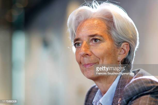 Head of IMF Christine Lagarde is photographed for Le Figaro Magazine on May 10 2011 in Paris France Figaro ID 100989016 CREDIT MUST READ Francois...