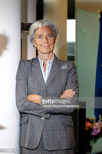 Head of IMF Christine Lagarde is photographed for Le Figaro Magazine on May 10 2011 in Paris France Figaro ID 100989032 CREDIT MUST READ Francois...