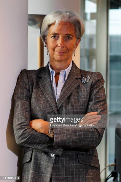 Head of IMF Christine Lagarde is photographed for Le Figaro Magazine on May 10 2011 in Paris France Published image Figaro ID 100989034 CREDIT MUST...