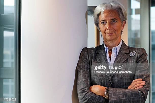 Head of IMF Christine Lagarde is photographed for Le Figaro Magazine on May 10 2011 in Paris France Figaro ID 100989035 CREDIT MUST READ Francois...