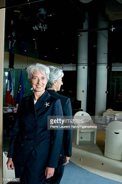 Head of IMF Christine Lagarde is photographed for Le Figaro Magazine on May 20 2008 in Paris France Figaro ID 083583010 CREDIT MUST READ Pierre...