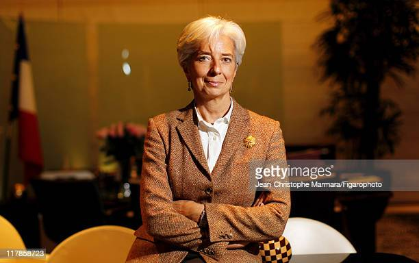 Head of IMF Christine Lagarde is photographed for Le Figaro Magazine on February 15 2011 in Paris France Figaro ID 100226024 CREDIT MUST READ...