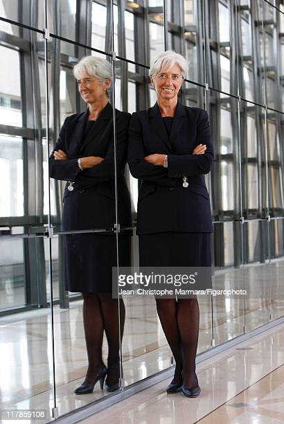 Head of IMF Christine Lagarde is photographed for Le Figaro Magazine on September 14 2010 in Paris France Published image Figaro ID 098704066 CREDIT...