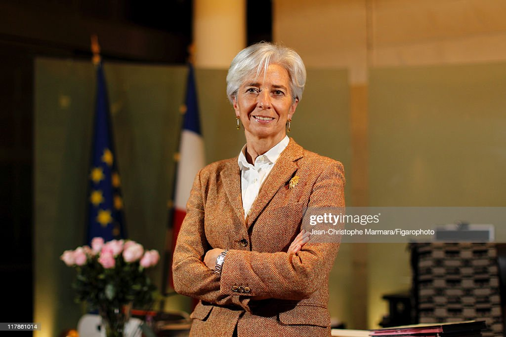 Head of IMF <a gi-track='captionPersonalityLinkClicked' href=/galleries/search?phrase=Christine+Lagarde&family=editorial&specificpeople=566337 ng-click='$event.stopPropagation()'>Christine Lagarde</a> is photographed for Le Figaro Magazine on February 15, 2011 in Paris, France. Published image. Figaro