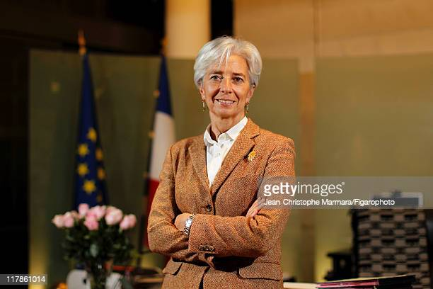 Head of IMF Christine Lagarde is photographed for Le Figaro Magazine on February 15 2011 in Paris France Published image Figaro ID 100226025 CREDIT...