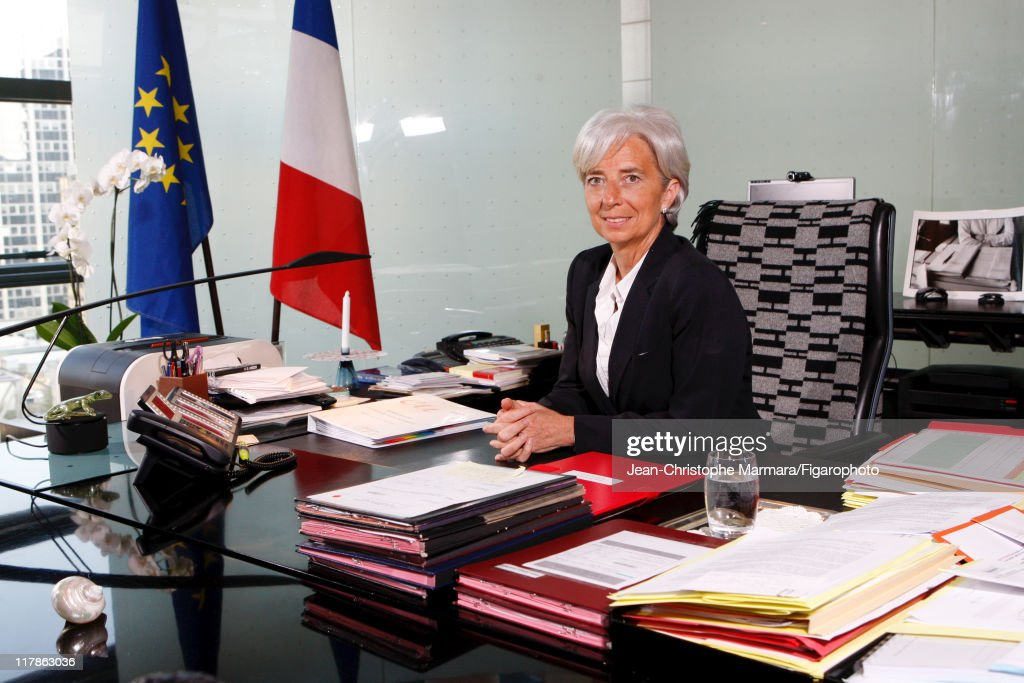 Head of IMF <a gi-track='captionPersonalityLinkClicked' href=/galleries/search?phrase=Christine+Lagarde&family=editorial&specificpeople=566337 ng-click='$event.stopPropagation()'>Christine Lagarde</a> is photographed for Le Figaro Magazine on April 15, 2010 in Paris, France. Figaro