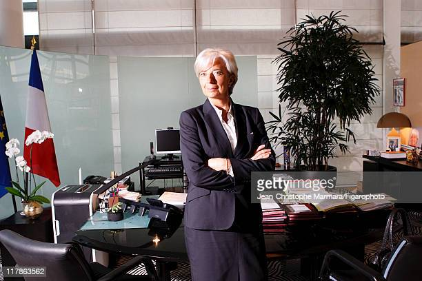 Head of IMF Christine Lagarde is photographed for Le Figaro Magazine on April 15 2010 in Paris France Figaro ID 097332036 CREDIT MUST READ...