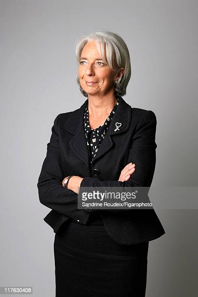Head of IML Christine Lagarde is photographed for Le Figaro Magazine on March 16 2009 in Paris France Figaro ID 084077025 CREDIT MUST READ Sandrine...
