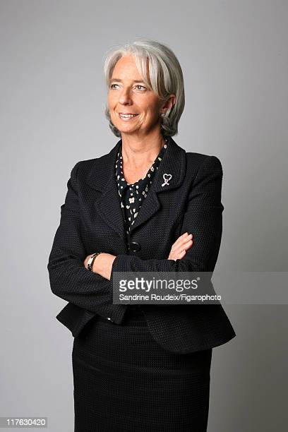 Head of IML Christine Lagarde is photographed for Le Figaro Magazine on March 16 2009 in Paris France Figaro ID 084077026 CREDIT MUST READ Sandrine...
