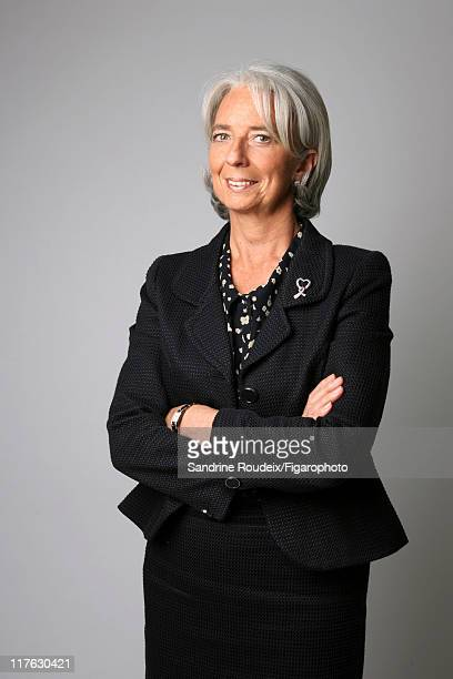 Head of IML Christine Lagarde is photographed for Le Figaro Magazine on March 16 2009 in Paris France Figaro ID 084077027 CREDIT MUST READ Sandrine...