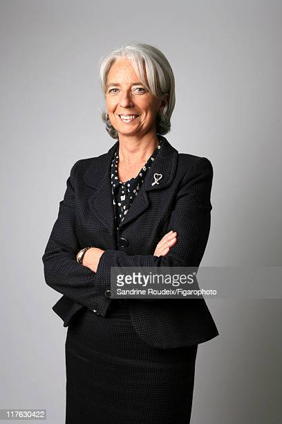 Head of IML Christine Lagarde is photographed for Le Figaro Magazine on March 16 2009 in Paris France Figaro ID 084077028 CREDIT MUST READ Sandrine...