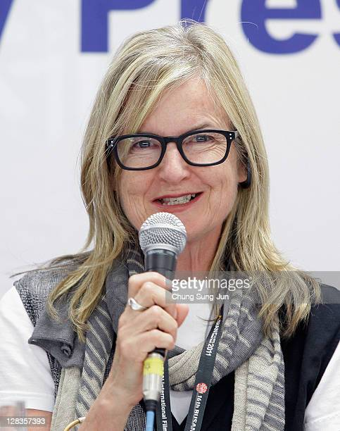 Head of Jury of the Flash Forward Gillian Armstrong attends the Flash Forward Press Conference during the 16th Busan International Film Festival at...