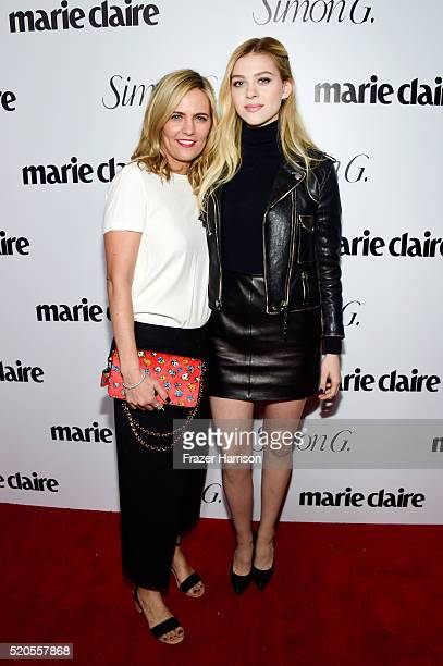 Head of marketing and ecommerce for North America at Coach Marie Audier and actress Nicola Peltz attend the 'Fresh Faces' party hosted by Marie...