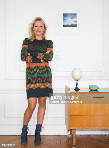 Head of Marketing Communication for Yves Delorme Caroline Cooren is photograpehd for Madame Figaro on September 14 2017 in Paris France PUBLISHED...