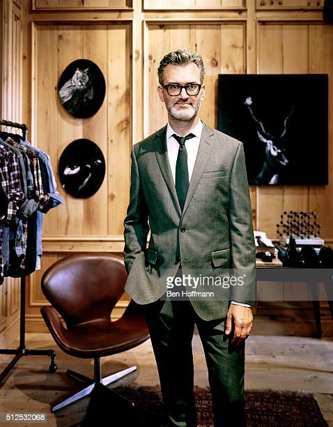 Head of men's fashion for JCrew Frank Muytjens is photographed for T Magazine on August 7 2010 in New York City