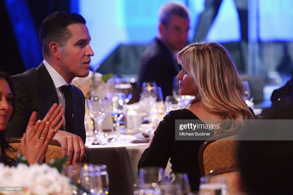 Head of Motion Picture Talent at Creative Artists Agency (CAA), Jim Toth and actress Reese Witherspoon attend the 2nd Annual Sean Penn and Friends Help Haiti Home Gala benefiting J/P HRO presented by Giorgio Armani at Montage Hotel on January 12, 2013 in Los Angeles, California.