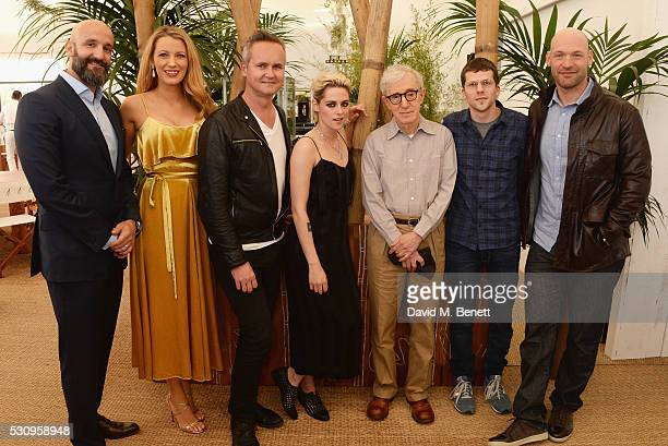 Head of Motion Pictures Jason Ropell Blake Lively Roy Price Kristen Stewart director Woody Allen Jesse Eisenberg and Corey Stoll attend the Amazon...