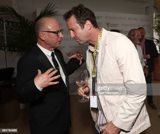 Head of movie distribution and marketing at Amazon Studios Bob Berney and Sundance Film Festival's Trevor Groth attend the 'Wonderstruck' Cannes...