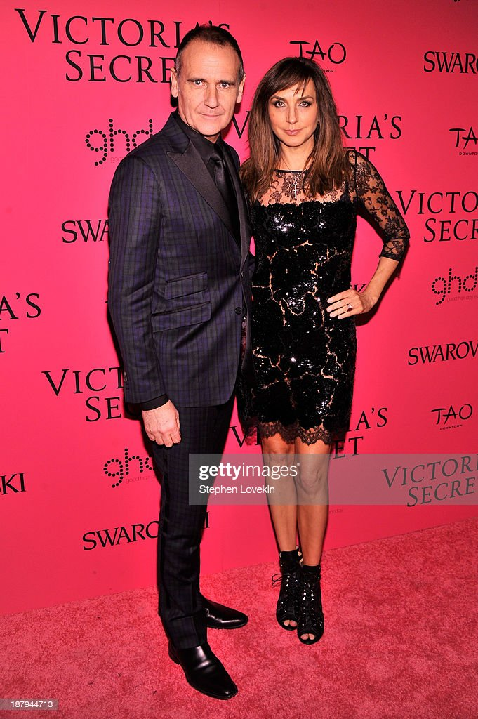 Head of PR/Executive Producer of Victoria's Secret Fashion Show Monica Mitro (R) and Nigel Curtiss attend the 2013 Victoria's Secret Fashion Show at TAO Downtown on November 13, 2013 in New York City.