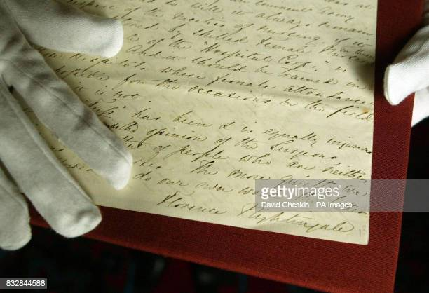Head of Records David Brown looks at a letter from Florence Nightingale as the exhibits from the Dalhousie papers a priceless collection of...