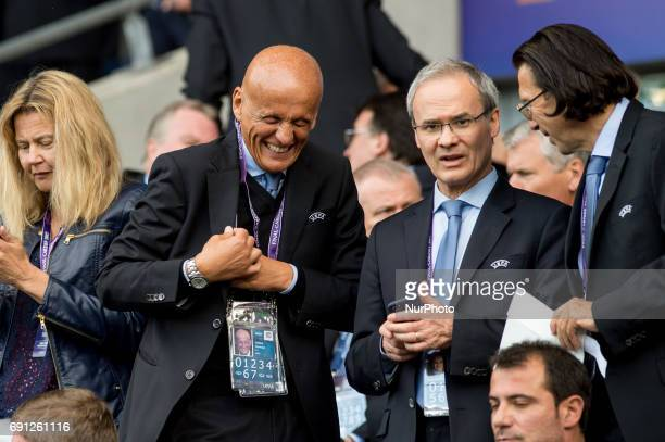 Head of Referees Pierluigi Collina during the UEFA Women's Champions League Final between Lyon Women and Paris Saint Germain Women at the Cardiff...