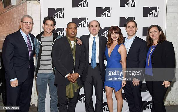 Head of Sales Viacom Media Networks Music Entertainment Group Jeff Lucas Tyler Posey Ja Rule President and CEO of Viacom Philippe Dauman Katie...