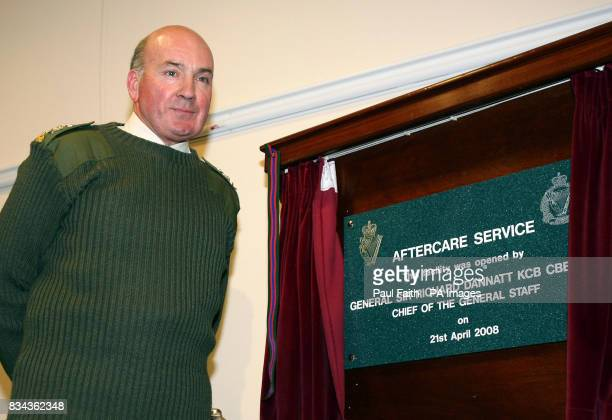 Head of the British Army General Sir Richard Dannatt officially opens the army aftercare centre near Holywood County Down