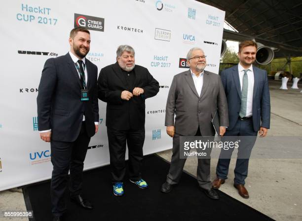 Head of the cybercenter project of the State Concern Ukrobonprom Yegor Aushev CoFounder of Apple Steve Wozniak and Programmer author of the software...