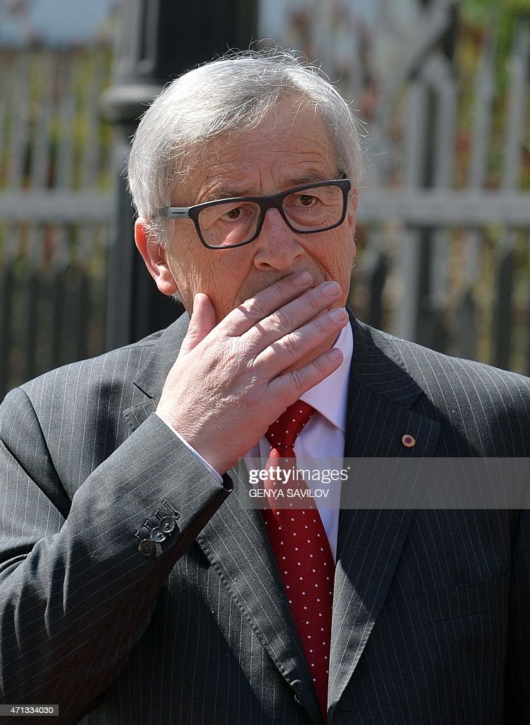 Head of the European Commission <a gi-track='captionPersonalityLinkClicked' href=/galleries/search?phrase=Jean-Claude+Juncker&family=editorial&specificpeople=207032 ng-click='$event.stopPropagation()'>Jean-Claude Juncker</a> arrives for a meeting with the Ukrainian president in Kiev on April 27, 2015. Ukraine and European Union leaders hold a summit expected to discuss peacekeeping troops and a possible aid boost for the debt-mired country, amid a fragile ceasefire between government troops and pro-Russian separatists in the east. AFP PHOTO/GENYA SAVILOV