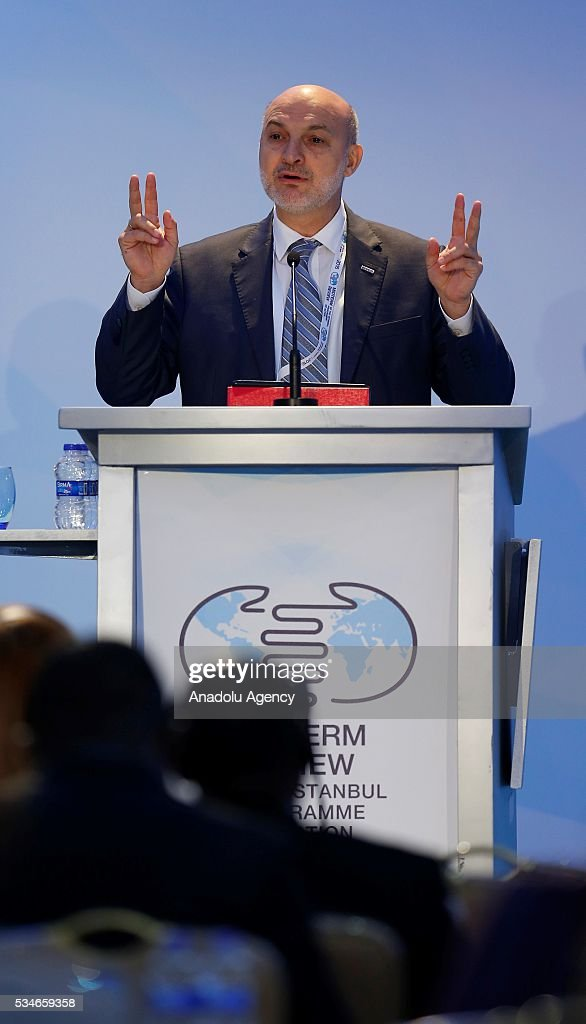 Head of the Foreign Economic Relations Board of Turkey (DEIK) Omer Cihad Vardan delivers a speech during the Midterm Review of the Istanbul Programme of Action at Titanic Hotel in Antalya, Turkey on May 27, 2016. The Midterm Review conference for the Istanbul Programme of Action for the Least Developed Countries takes place in Antalya, Turkey from 27-29 May 2016. The conference will undertake a comprehensive review of the implementation of the Istanbul Programme of Action by the least developed countries (LDCs) and their development partners and likewise reaffirm the global commitment to address the special needs of the LDCs.
