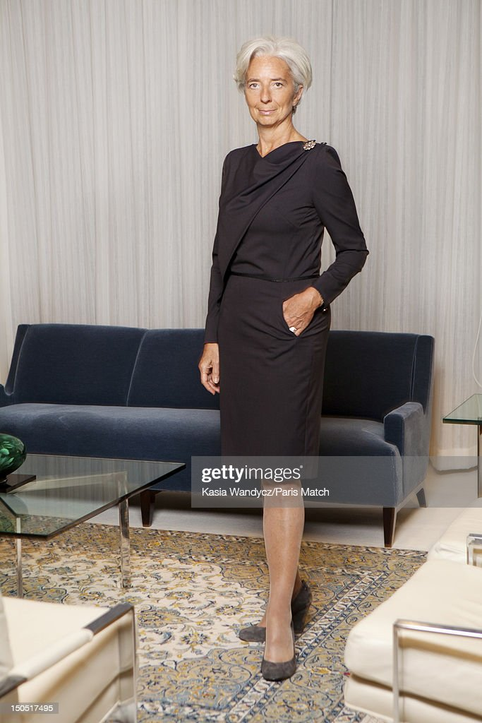 Head of the IMF <a gi-track='captionPersonalityLinkClicked' href=/galleries/search?phrase=Christine+Lagarde&family=editorial&specificpeople=566337 ng-click='$event.stopPropagation()'>Christine Lagarde</a> is photographed at her office for Paris Match on November 19, 2011 in Washington, DC.