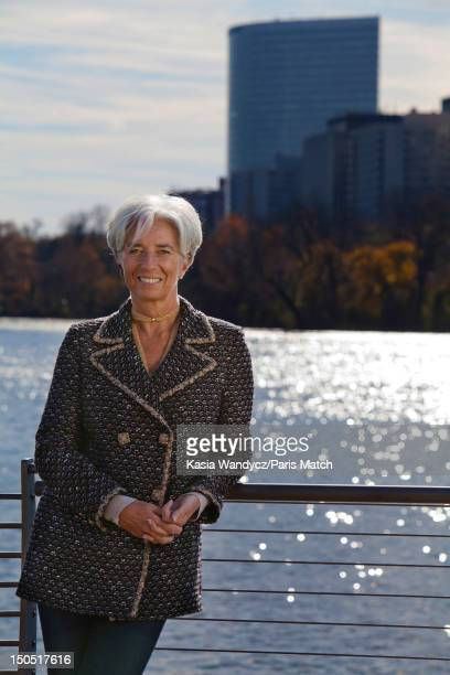 Head of the IMF Christine Lagarde is photographed for Paris Match on November 19 2011 in Washington DC