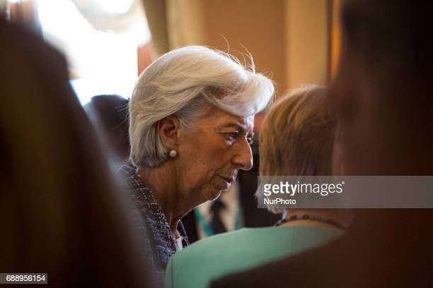 Head of the International Monetary Fund Christine Lagarde at the G7 Summit expanded session in Taormina Sicily on May 27 2017