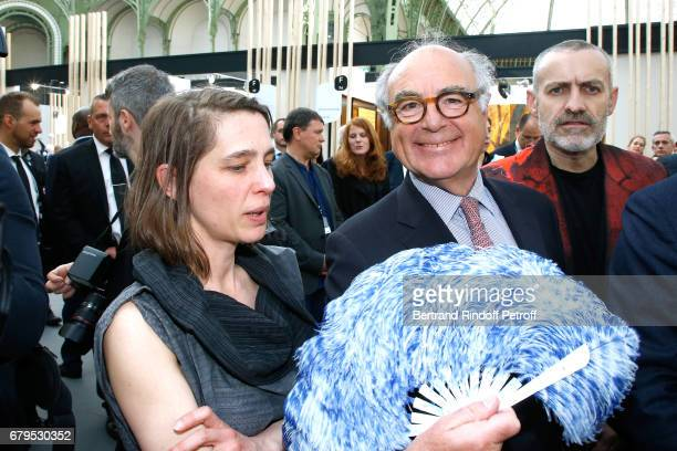 Head of the 'Revelations' Fair Aurelie Grenier and Henri JobbeDuval attend the 'Revelations' Fair at Balcon d'Honneur du Grand Palais on May 5 2017...