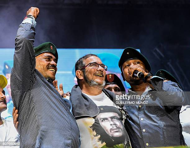 Head of the Revolutionary Armed Forces of Colombia Timoleon Jimenez aka 'Timochenko' attends a Cultural event during the second day of 10th National...
