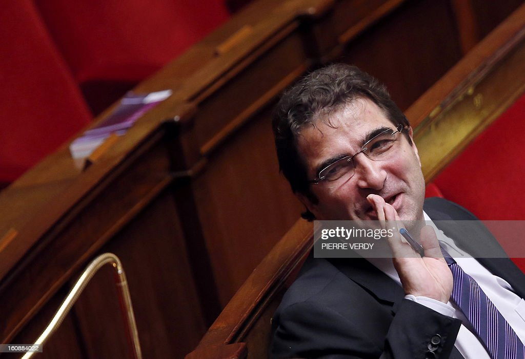 Head of the UMP opposition right-wing party group at the National Assembly, Christian Jacob gestures as he attends the debate on legalising same-sex marriage at the National Assembly on February 7, 2013 in Paris. France's Parliament began examining draft legislation on same-sex marriage after months of rancorous debate and huge street protests by both supporters and opponents. The proposed law still faces at least another week of scrutiny before a final vote scheduled for February 12, it now looks set to emerge from parliament without delay and undiluted.