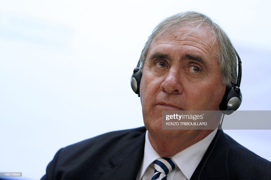 Head of the World Anti-Doping Agency John Fahey takes part in an anti-doping conference on November 12, 2012 in Paris.