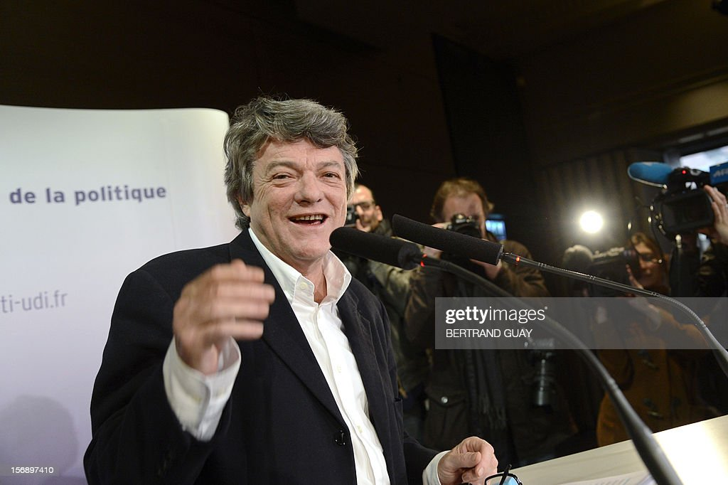 Head of Union of Democrats and Independents (UDI) party, Jean-Louis Borloo arrives for a meeting on November 24, 2012 at the 'Maison de la Mutualite' conference centre in Paris. France's centre-right UDI and far-right Front National (FN) recently declared registering an increasing number of new memberships since the bitterly contested leadership election of main opposition right-wing party Union for a Popular Movement (UMP). UMP appeared to have pulled back from the brink of disintegration, as both Jean-Francois Cope, the right-winger who was declared the winner of knife-edge vote last November 18, and his centrist rival Francois Fillon have agreed to mediation intended to establish who actually won and whether mutual allegations of ballot rigging had any foundation.