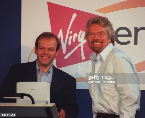 Head of Virgin Richard Branson with Managing Director of new company Virgin energy Jon Kinsey at the launch of the enterprise in London The new...