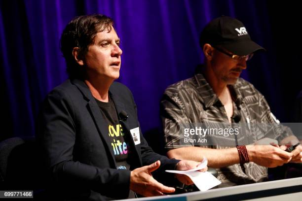 Head of VR/AR Strategy Magic Gallery Tony Parisi participates in a Realistic Human Avatars panel discussion during day one of The Art of VR at...