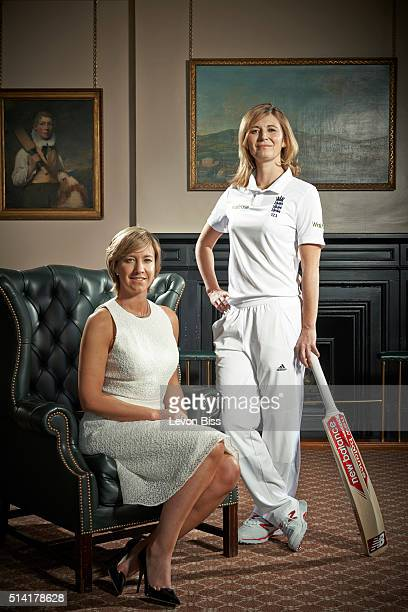 Head of womens cricket Clare Connor and England captain Charlotte Edwards are photographed for the Observer on April 17 2015 in London England
