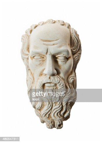 Jefe de Zeus escultura : Foto de stock