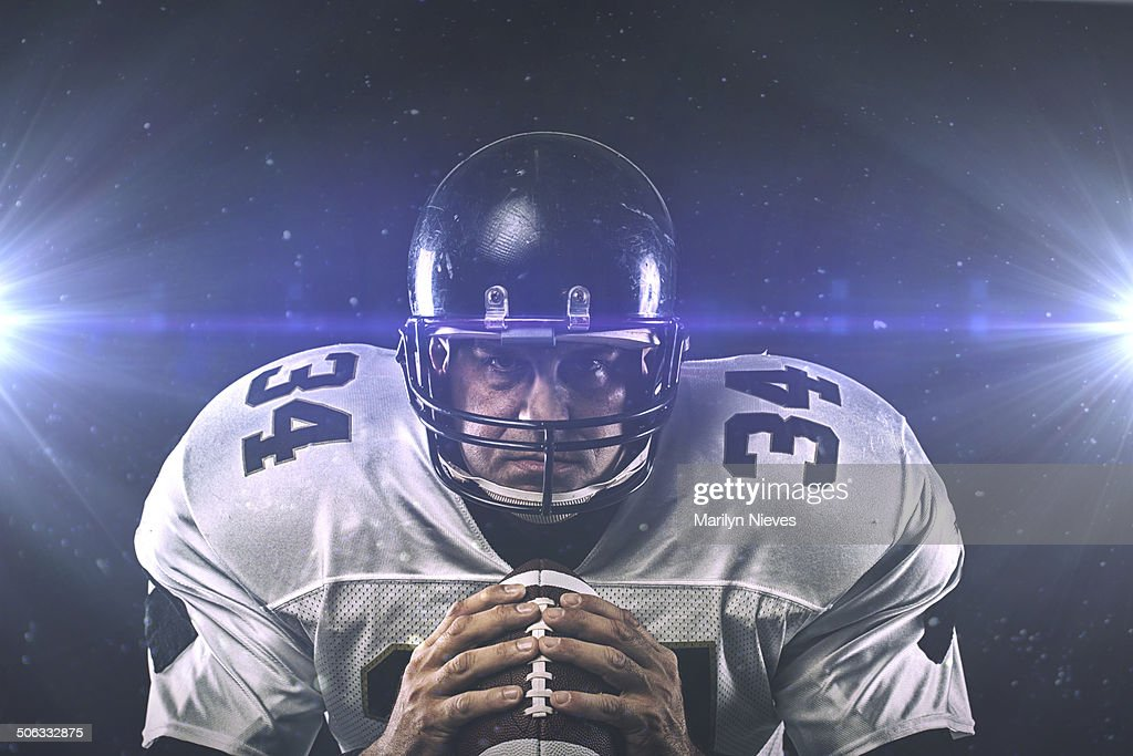 head on with football player