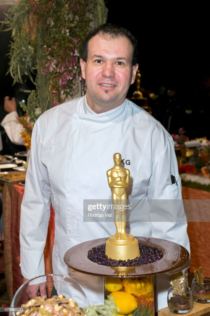 Head pastry chef Kamel Guechida attends the 86th Annual Academy Awards - Governors Ball Press Preview at The Ray Dolby Ballroom at Hollywood & Highland Center on February 20, 2014 in Hollywood, California.