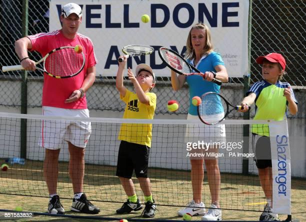 Head performance coach for Tennis Scotland Toby Smith and Performance manager for Tennis Scotland Karen Ross coach children Shay Campbell and Michael...